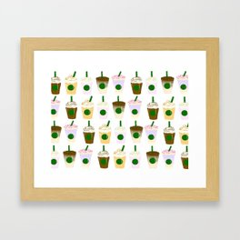 It's Frappuccino Time! Framed Art Print