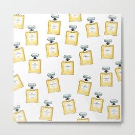 Classic Yellow Parfum Pattern Metal Print