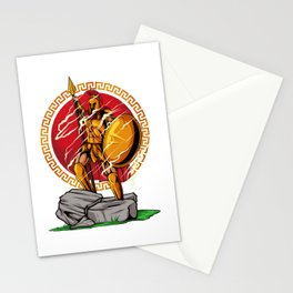Victorious Spartan Warrior - Heroic Pose Stationery Cards
