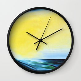 'Tropical Wave' by Marguerite Blasingame Wall Clock