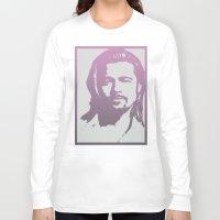 brad pitt Long Sleeve T-shirts featuring Brad Pitt by Dora Birgis