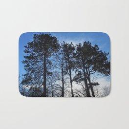 Winter Pine Trees Bath Mat
