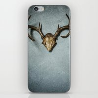antlers iPhone & iPod Skins featuring Antlers by Joyce Vincent