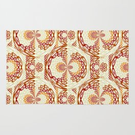 Brown and tan pattern Rug