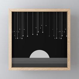 Falling Stars Framed Mini Art Print