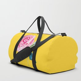Watercolor Rose Duffle Bag