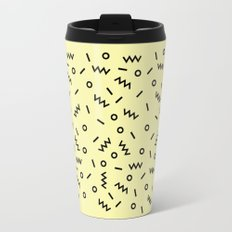 Retro Eighties Inspired Repated Pattern Design Travel Mug