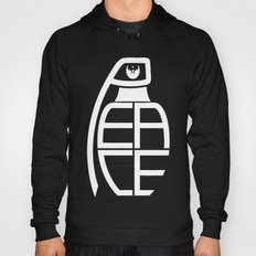 Peace Grenade Typography Print Black Edition Hoody