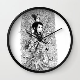 kinoko 2 Wall Clock