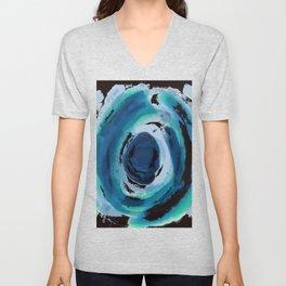 Blue Circle of Saddness Unisex V-Neck