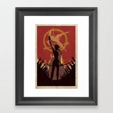 Burning Framed Art Print