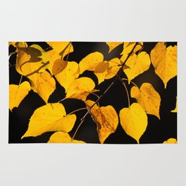 Autumn Foliage Yellow Leaves #decor #buyart #society6 Rug