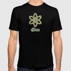Atom Mens Fitted Tee Black SMALL