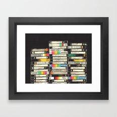 VHS Stack Framed Art Print