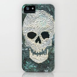 Large Skull Painting iPhone Case