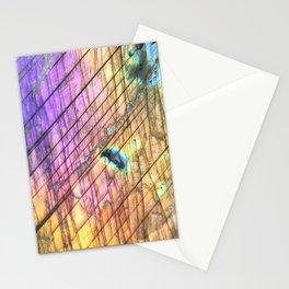 Golden Labradorite Agate Gemstone Stationery Cards