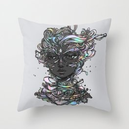 Interplay of Color Throw Pillow