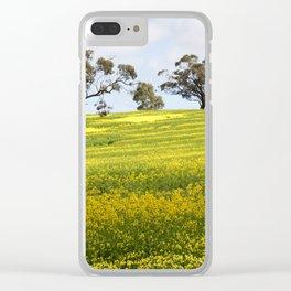 Canola Yellow Landscape Clear iPhone Case