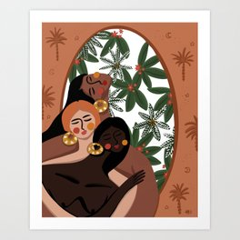Cabana girls Art Print
