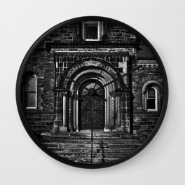 University College East Entrance Toronto Canada Wall Clock