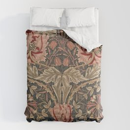 William Morris Honeysuckle Tuscany Italian Textile Floral Pattern Comforters