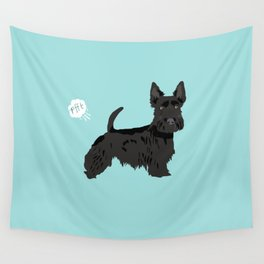 scottish terrier scotties funny farting dog breed pure breed pet gifts Wall Tapestry