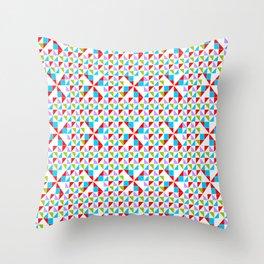 symetric patterns 10 -mandala,geometric,rosace,harmony,star,symmetry Throw Pillow