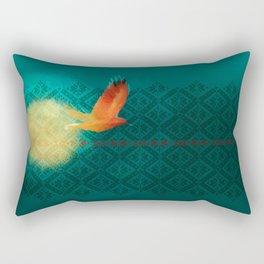 El vuelo de Alondra Rectangular Pillow