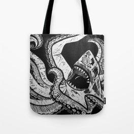 Sharktopus Tote Bag