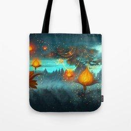 Magical lights Tote Bag