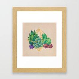 Geometric Terrarium 3 Acrylic on Wood Painting Framed Art Print