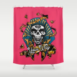 Calavera Egipcia Shower Curtain