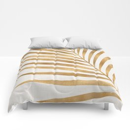 Metallic Gold Palm Leaf Comforters