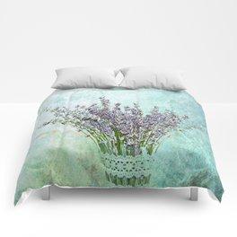 Lavender bouquet Comforters