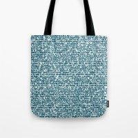 pool Tote Bags featuring POOL by aurelien vassal