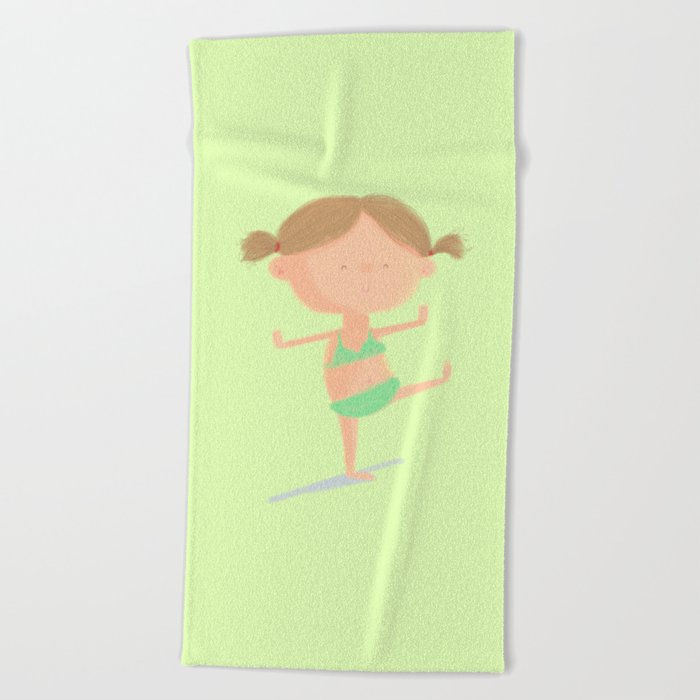 Little Girl Beach Towel