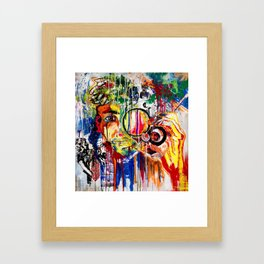 The Man Who Looked Through the Looking Glass and Saw Himself Framed Art Print