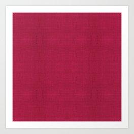 """Rose fuchsia Burlap Texture (Pattern)"" Art Print"