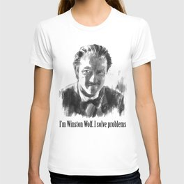 Winston Wolf in Pulp Fiction T-shirt