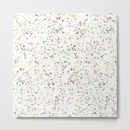 Classy vintage marble terrazzo pastel abstract design Metal Print