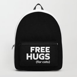 Free Hugs Cats Funny Quote Backpack