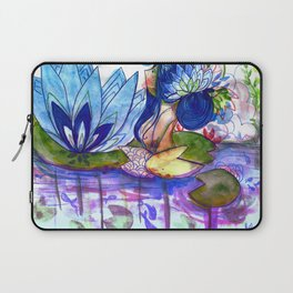 The blue lily water Laptop Sleeve