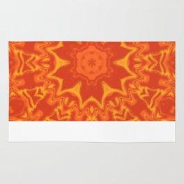 Red Orange and Yellow Kaleidoscope 5 Rug