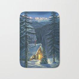 Christmas Snow Landscape Bath Mat