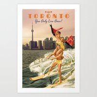 toronto Art Prints featuring TORONTO by Ads Libitum