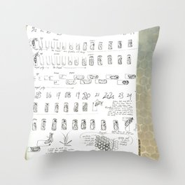 Stages of the Honey Bee Throw Pillow