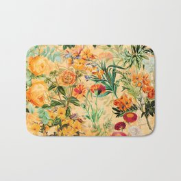 Vintage & Shabby Chic -  Sunny Gold Botanical Flowers Summer Day Bath Mat