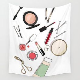 Beauty Routine Wall Tapestry