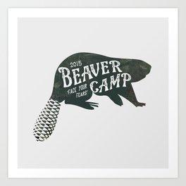 Beaver Camp - Silhouette Art Print