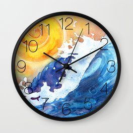 Ocean Wave Wall Clock